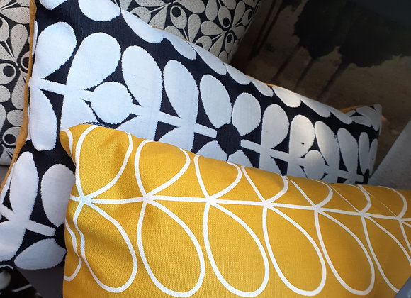 Orla Kiely & linen backed Cushion