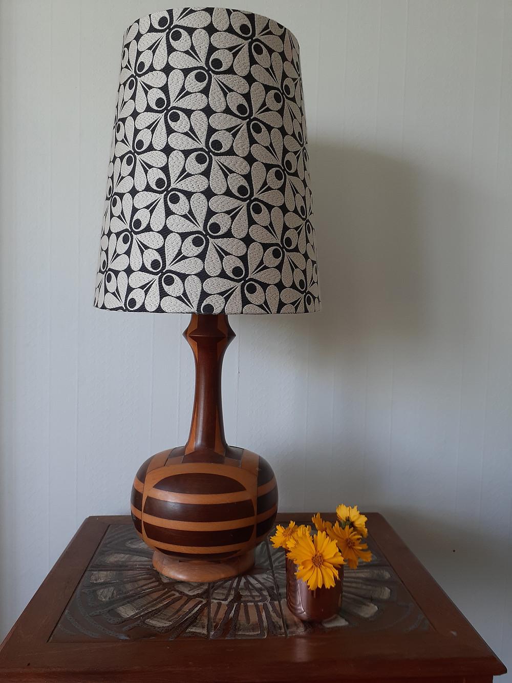 Retro table lampshade, Orla Kiely fabric