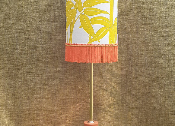 Art Deco lampbase with snazzy fringed shade