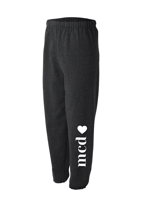 Elastic Bottom Sweatpants - Heathered Black