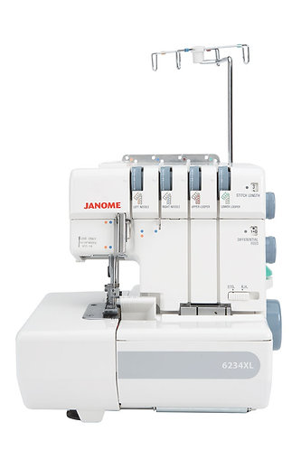 Janome Model 6234XL Overlock.Reboxed Two Year Full Guarantee