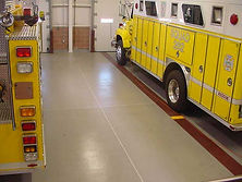 fire station epoxy floor Deco-Coat Flooringllc.