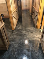 basement flooring epoxy metallic