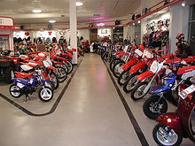 motorcycle Showroom Epoxy flooring