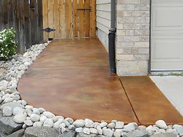 stained concrete sidewalk