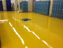 epoxy flooring in school
