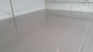 Deco-Coat Flooring LLC.pole building epoxy floor light grey