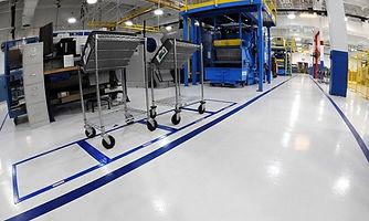 saftey lines epoxy flooring