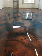 metallic epoxy flooring brown