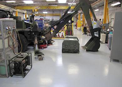 gray epoxy flooring
