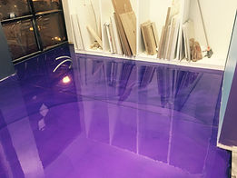 purple epoxy floor
