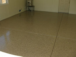 tan epoxy flake floor Columbus Ohio