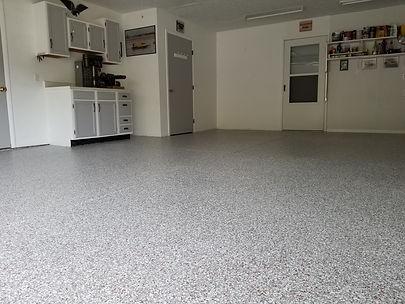 epoxy flake garage floor coulumbus ohio Deco-Coat Flooring LLC.