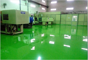 Green epoxy floor manufacturing plant
