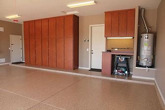 epoxy flake garage flooring