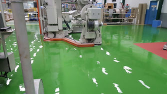 epoxy flooring green