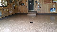epoxy flake garage floor Columbus, Ohio Deco Coat Flooring LLC