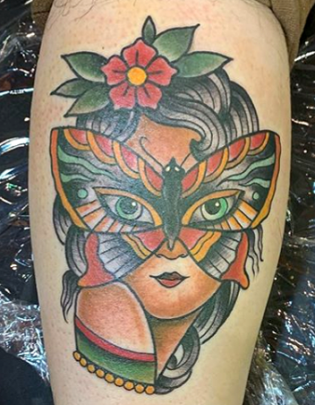 Lady Head Tattoo