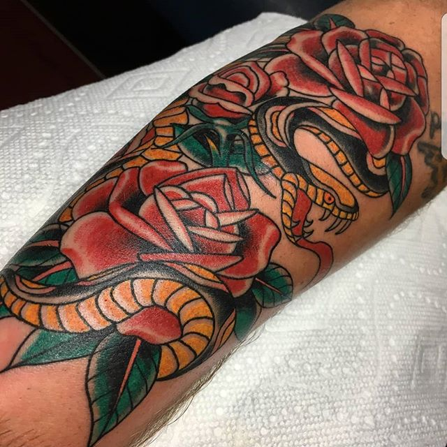 Snake an rose I'm super stoked to be bac