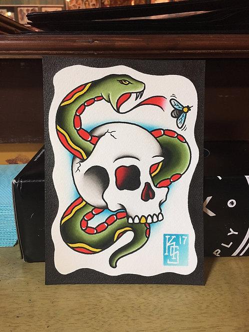 Skull/Snake OG (not a print)