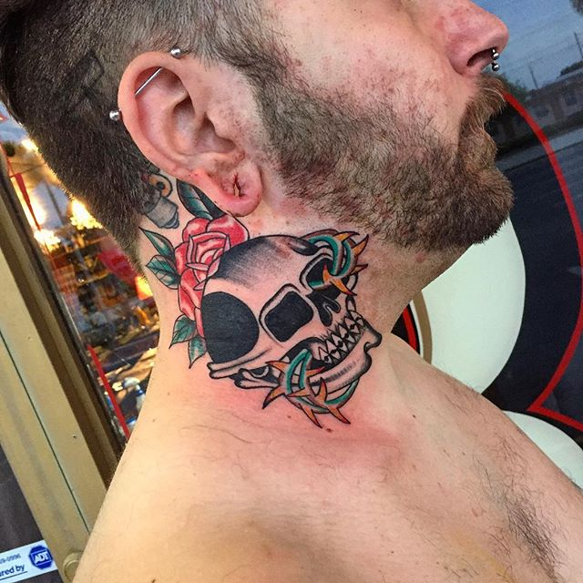 Neck _calaveratattoo_barberco call or tx