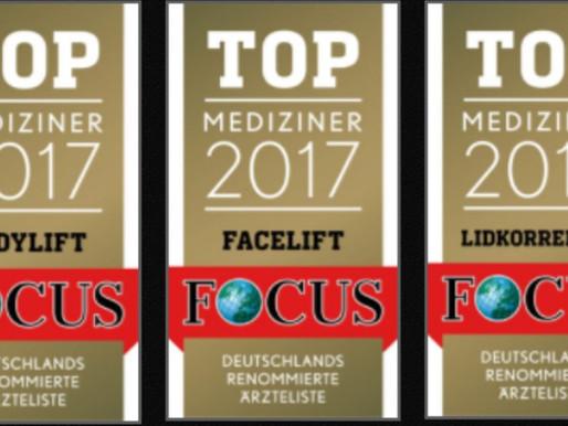 Top-Mediziner: Facelift, Lider, Bodylift – 3 Focus-Auszeichnungenfür Dr. Richter!