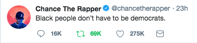 Chance states what we know but are afraid to talk about.