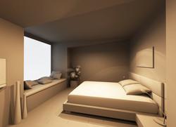 3D модель гостевой комнаты