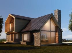 3D модель домика побольше