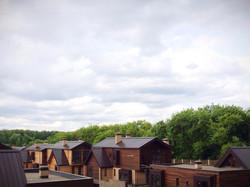 12 домиков, вид с детской площадки