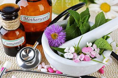 Alternative medicine herbs and stethosco