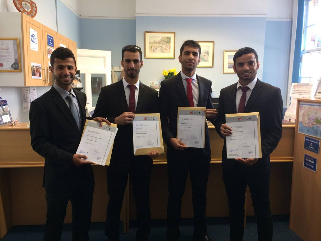 MLS College Omani certificate presentation suits
