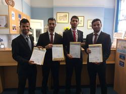 MLS College Omani certificate presentation suits