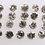 Thumbnail: 1.25 mm Salt and Pepper Round Brilliant cut Diamond