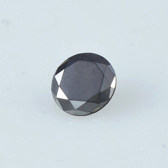 6.0 MM Natural Loose Round Brilliant cut diamond Treated Black Diamond