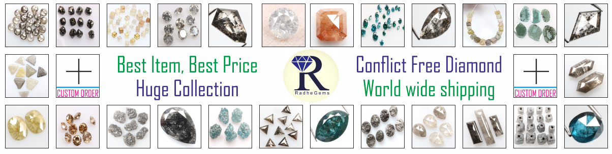 Huge Colllection of Natural Loose Salt and pepper Diamond and Uncut Rough and raw Diamond. Our All diamonds are conflict free. We provide online service worldwide.