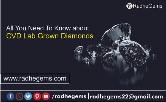 CVD Diamond - Lab Grown Diamond, Synthetic Diamond, Man Made Diamond