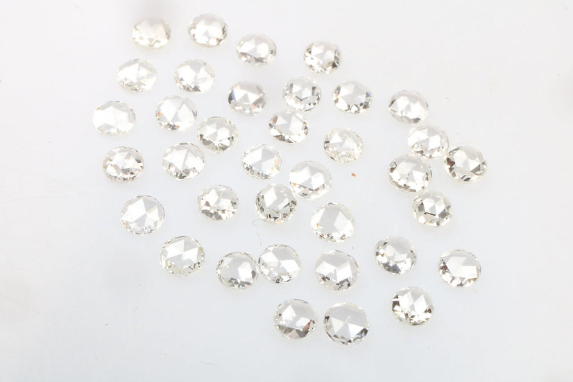 2.0 MM Natural Loose Diamond Round Rose Cut G-H White Color VS1 Clarity
