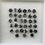 Thumbnail: 2.0 mm 30 pcs Salt and Pepper Round Brilliant cut Diamond
