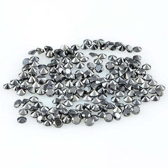 1.00 MM Natural Loose Round Brilliant cut diamond Treated Black Diamond