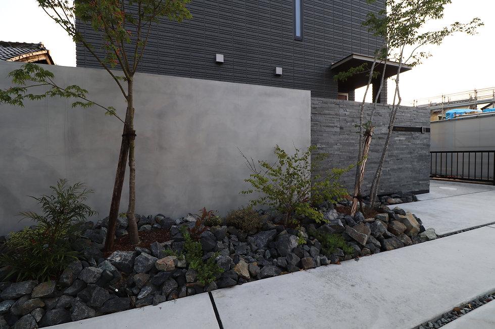 シンプルな門壁