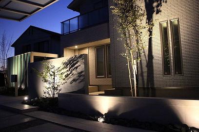 エクステリアの照明が美しい施工事例
