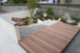 天然木ウッドデッキお庭のリフォ-ム