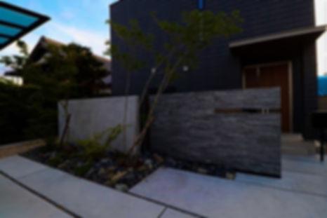 天然石の門壁 名古屋