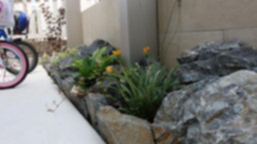植栽 割栗石
