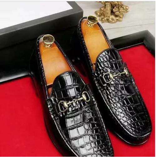 Men Crocodile Pattern Leather Shoes Mans Formal Dress Shoes