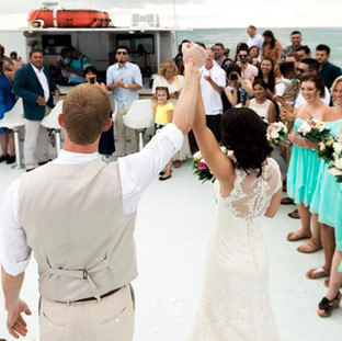 Luxury Boat wedding key west florida