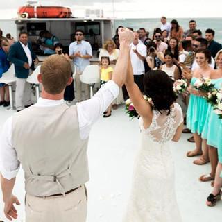 Luxury Boat wedding key west florida