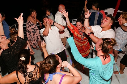 key west wedding recepion boat party