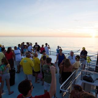 top deck wedding boat key west